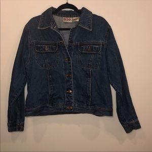 Vintage Bill Blass Dark Wash Jean Jacket